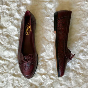 Bass Burgundy Leather Slip On Loafters sz 7.5N